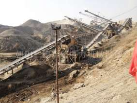 Daily production of 1000 tons of gravel